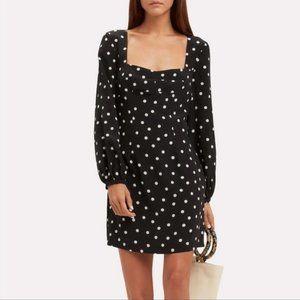 Intermix Silk Polka Dot Mini Dress Tunic Sz 0 XS